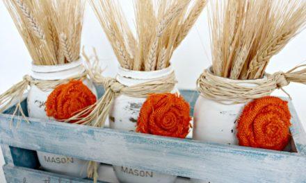 17 Thanksgiving Mason Jar Crafts