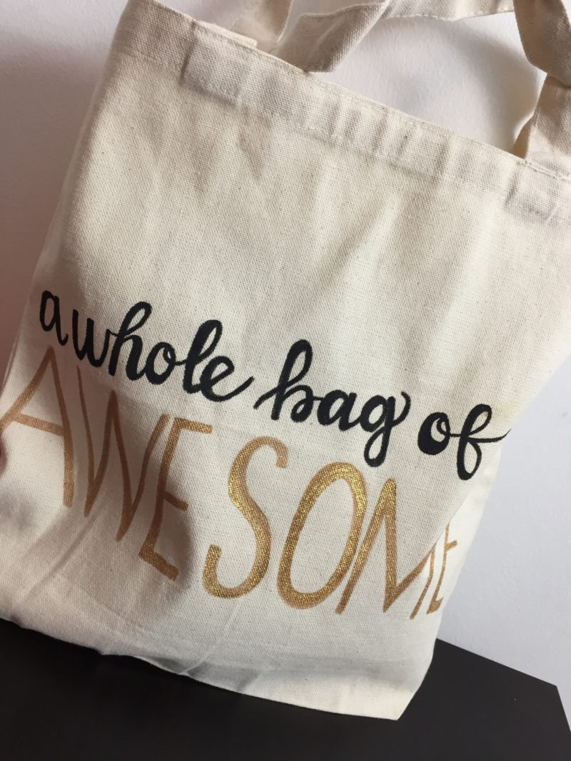 Hand Lettered Tote Bag Tutorial