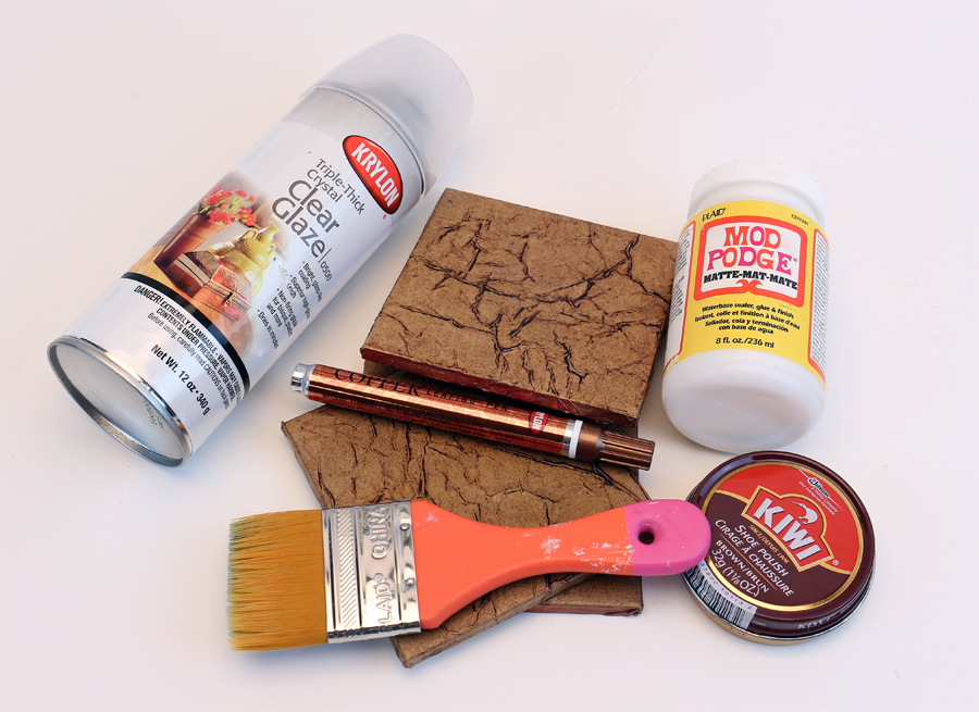 Supplies: Leather Look Tile Coasters