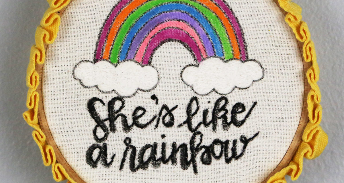Fun Painted Embroidery Hoop