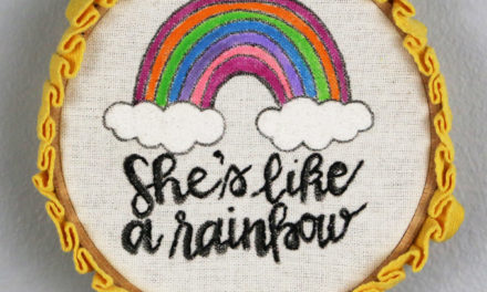 Fun Painted Embroidery Hoop