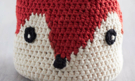 Foxy Stash Basket – Free Crochet Pattern