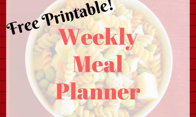 Weekly Meal Planner – Free Printable!
