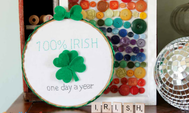 Cheeky St. Patrick's Day Embroidery Hoop Wall Art