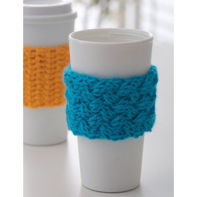 Coffee On The Go Knit Cozy Free Knitting Pattern Download Do It