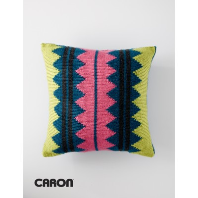 In Vivid Color Throw Pillow Free Knitting Pattern Do It Make It