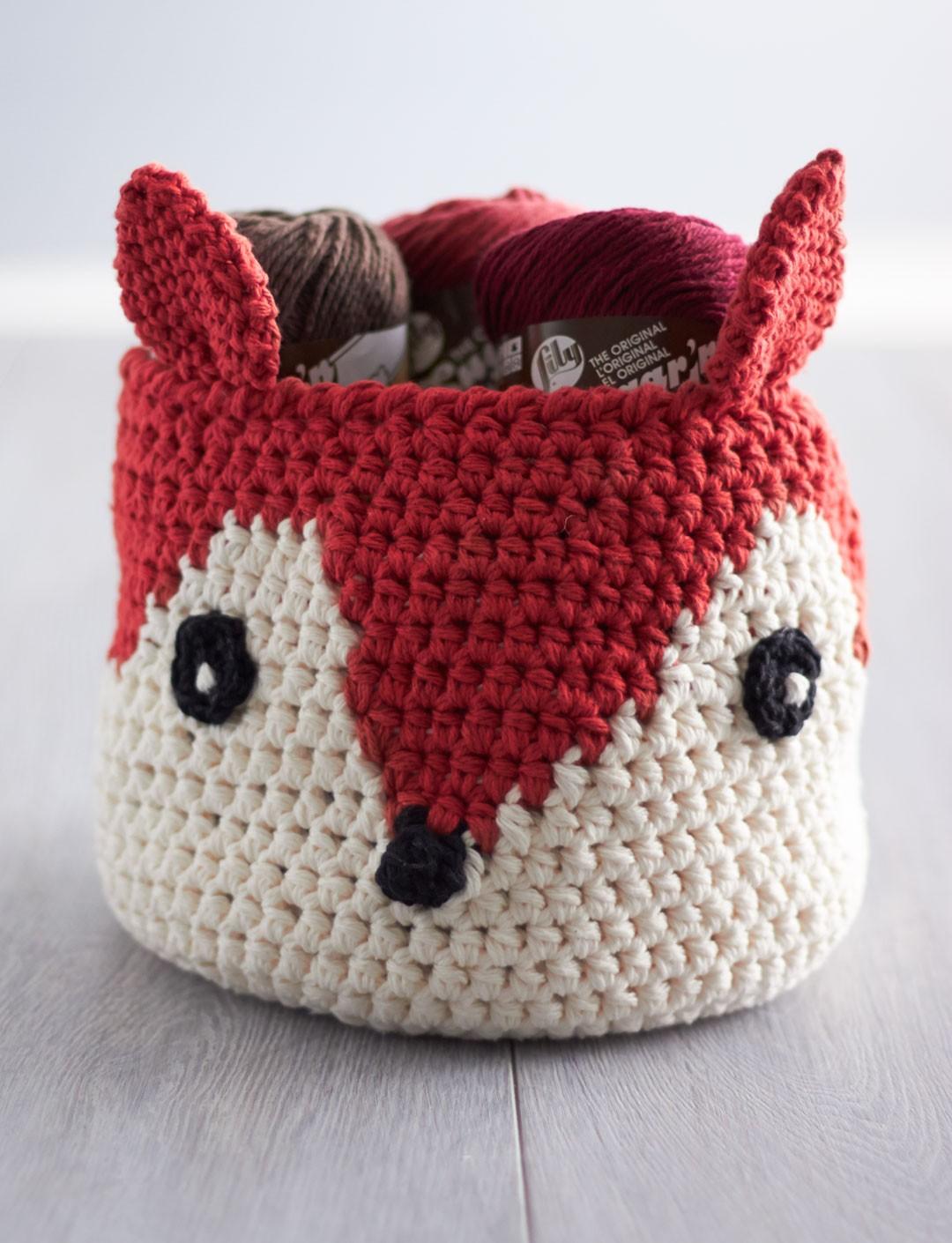 Foxy Stash Basket - Free Crochet Pattern - Do It Make It Love It