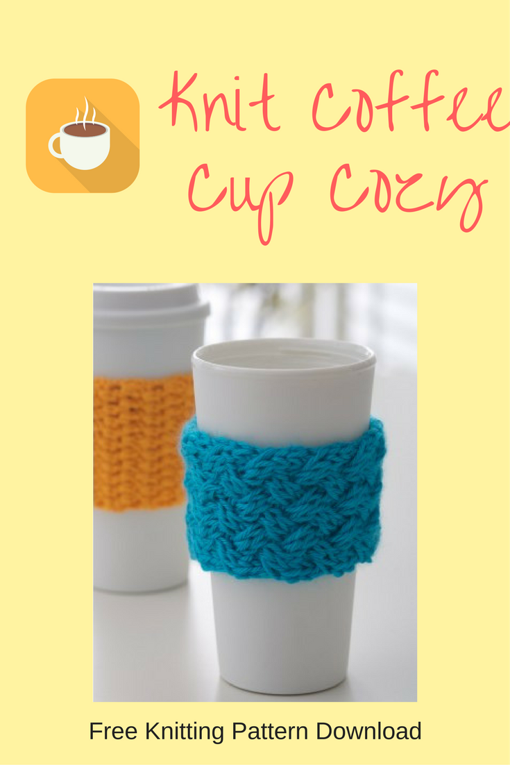 Coffee-on-the-go Knit Cozy - Free Knitting Pattern Download - Do It ...