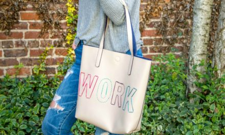 DIY Stitched Leather Tote Bag