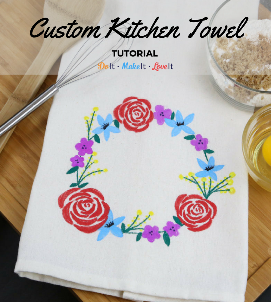 Fabric Marker Kitchen Towel Tutorial