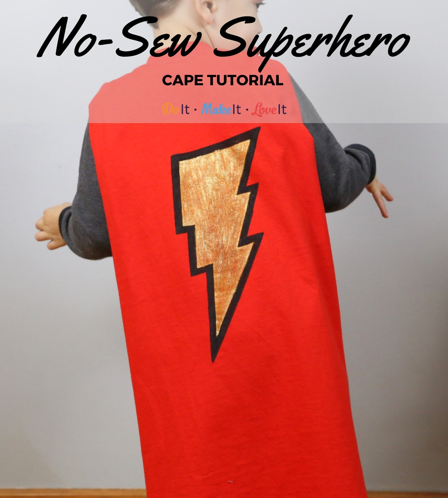 DIY No-Sew Toddler Superhero Cape