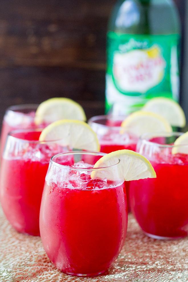 A Dozen Party Punch Recipes - Raspberry Lemonade Fizz