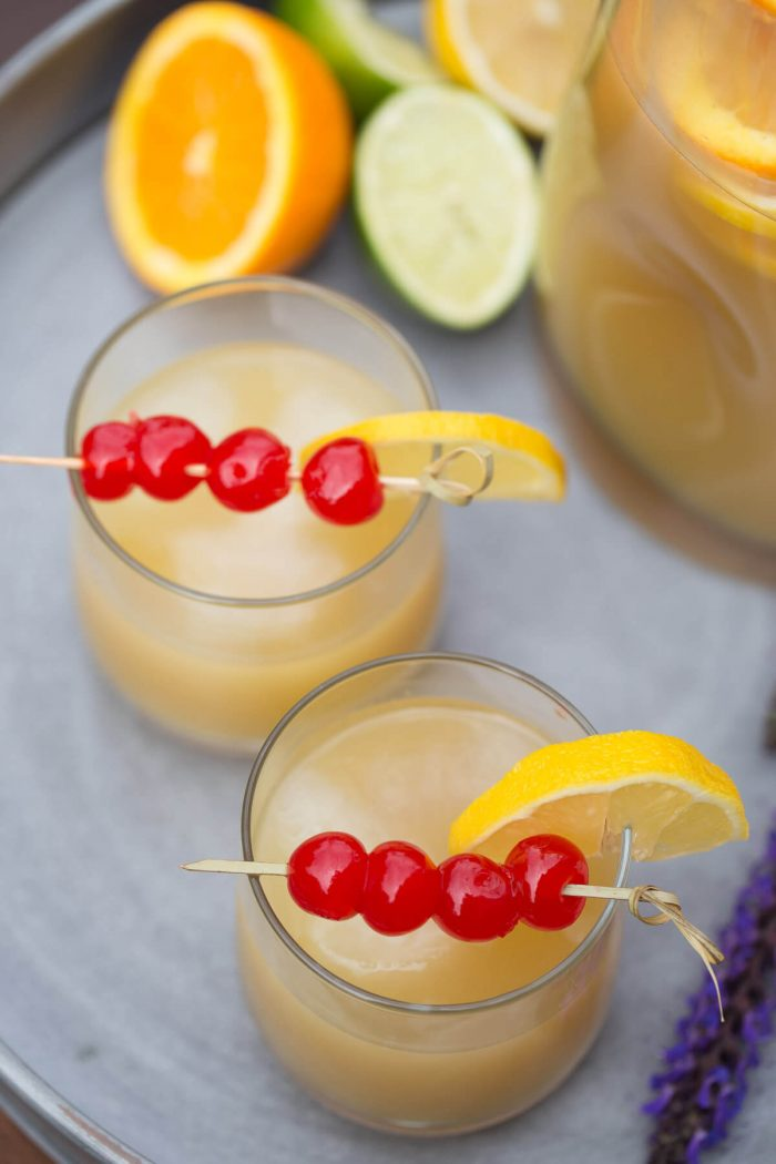 A Dozen Party Punch Recipes - Whiskey Sour Party Punch
