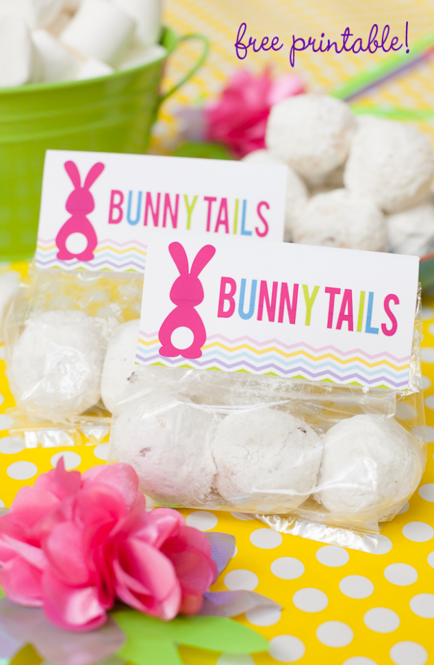 Easy Easter Projects for the Whole Family - Bunny Tail Favors