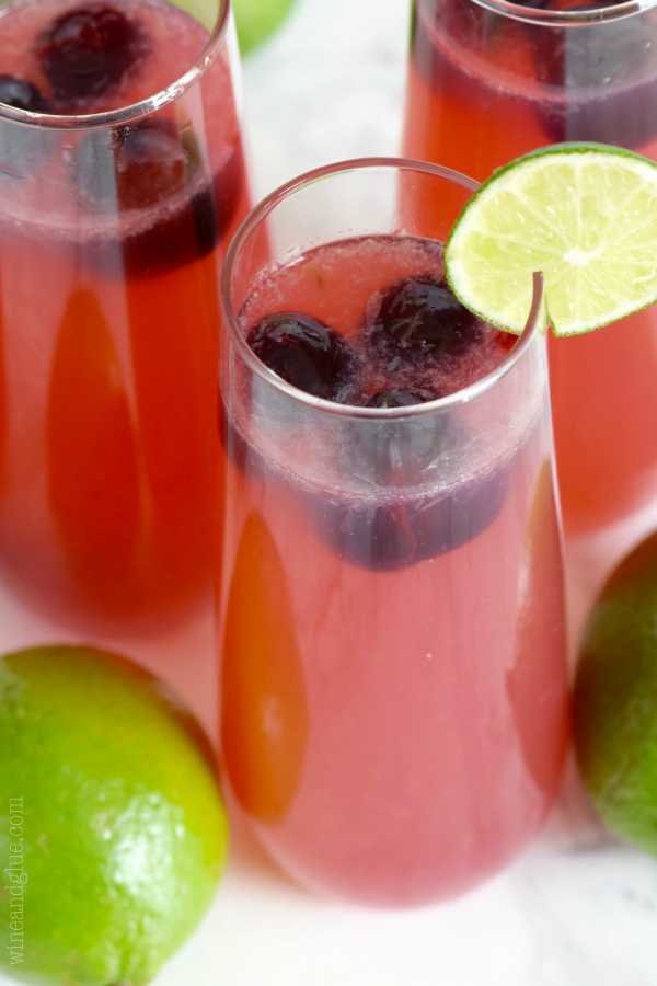 A Dozen Party Punch Recipes - Cherry Limeade Sangria