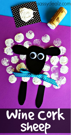 Easy Easter Projects for the Whole Family - Wine Cork Sheep Craft