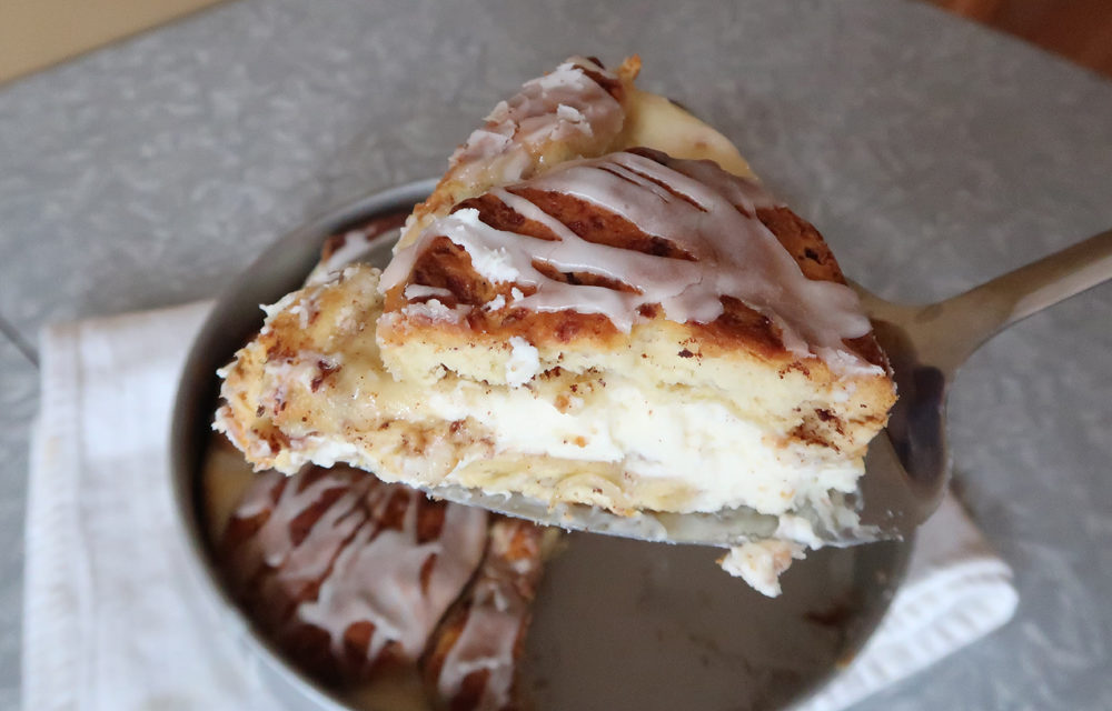 So Easy Cinnamon Roll Cheesecake Recipe