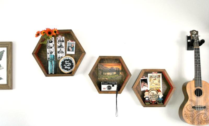 Hexagon Shelves DIY: A Honeycomb Shelves Tutorial