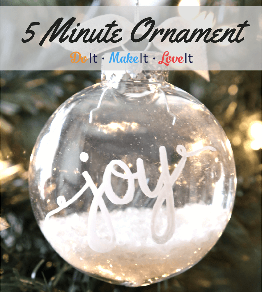 5 Minute DIY Ornament