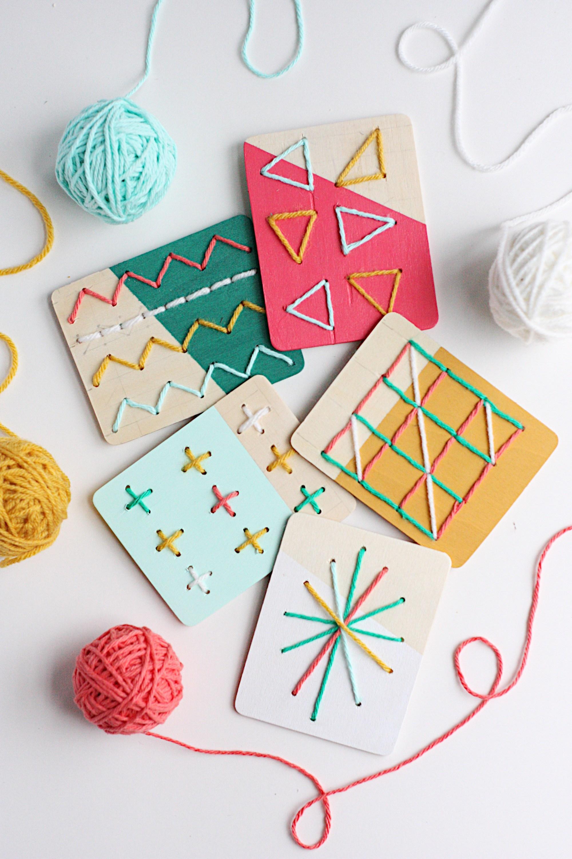 DIY Stitch Boards for Kids