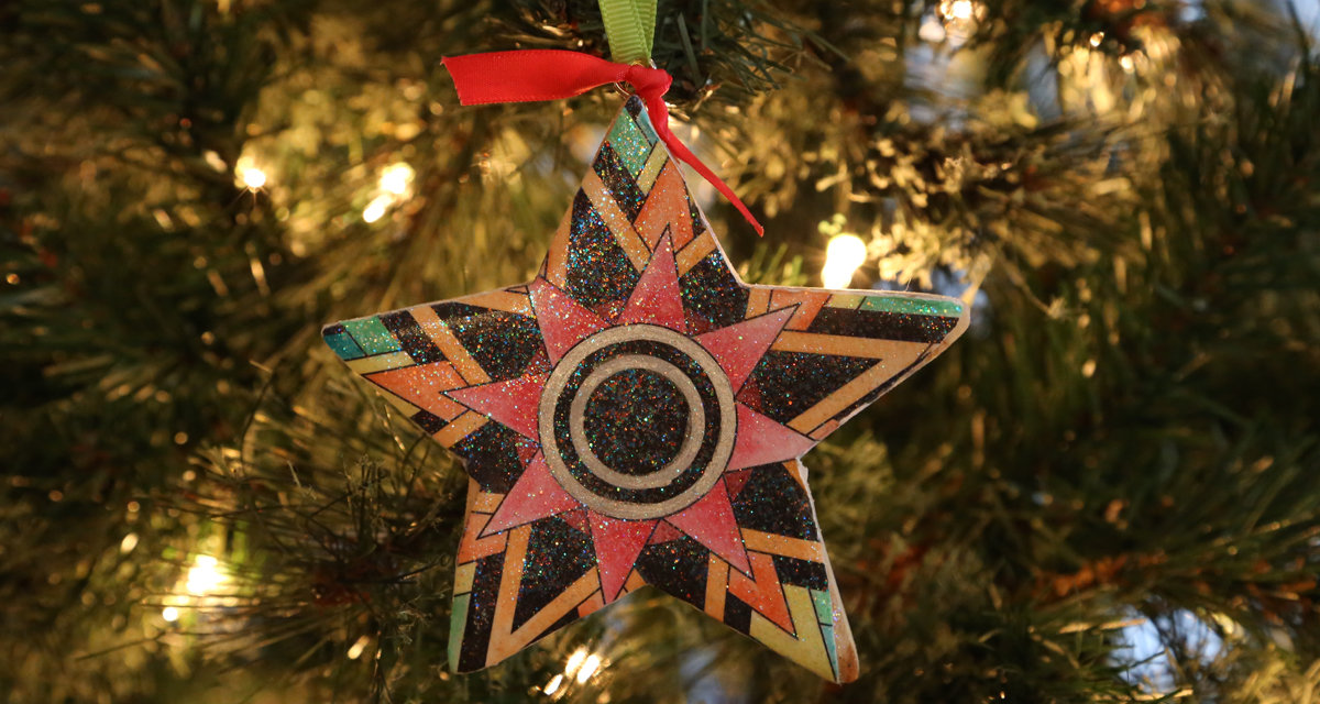 Easy Coloring Book Ornament
