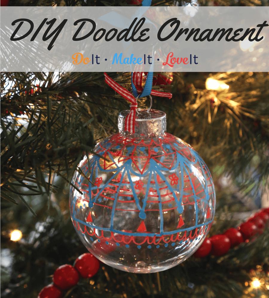 DIY Doodle Ornament