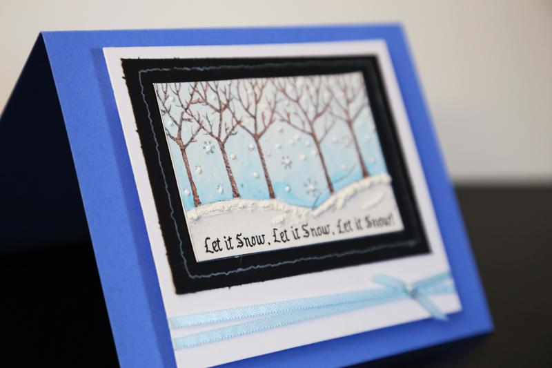 Let It Snow Handmade Card