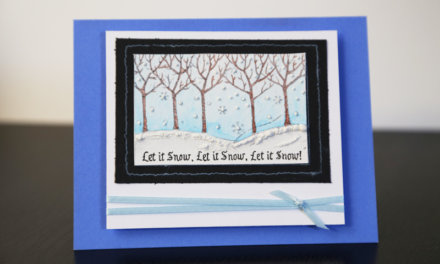 Let It Snow Christmas Card Tutorial