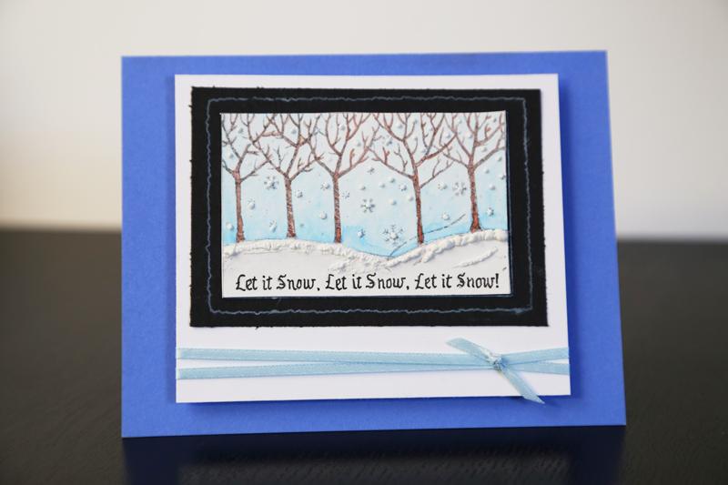 Let It Snow Christmas Card Tutorial