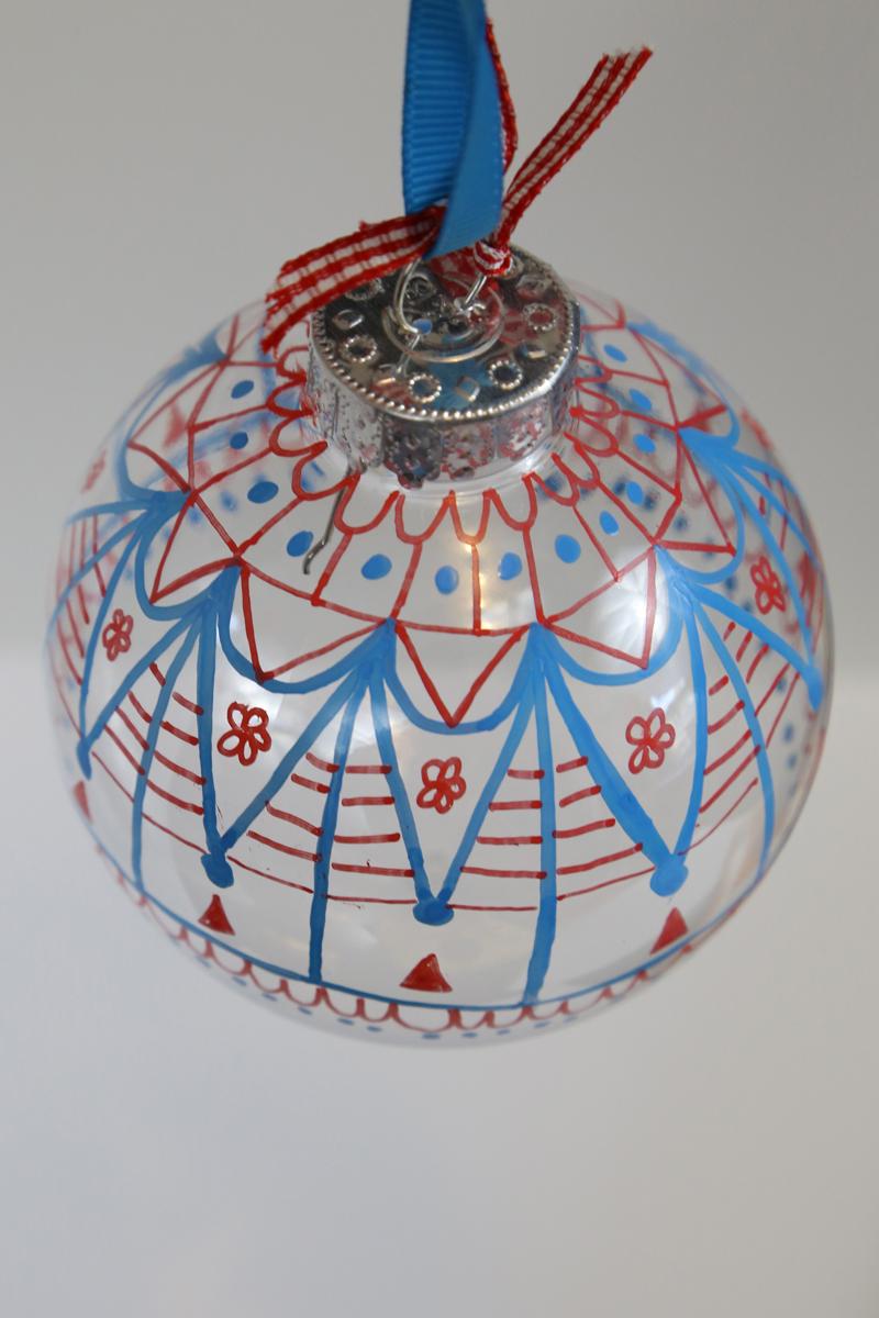 Doodle Painted Ornament