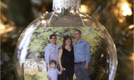 5 Minute Photo Glass Ornament
