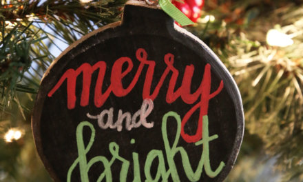 10 Minute DIY Chalkboard Ornament