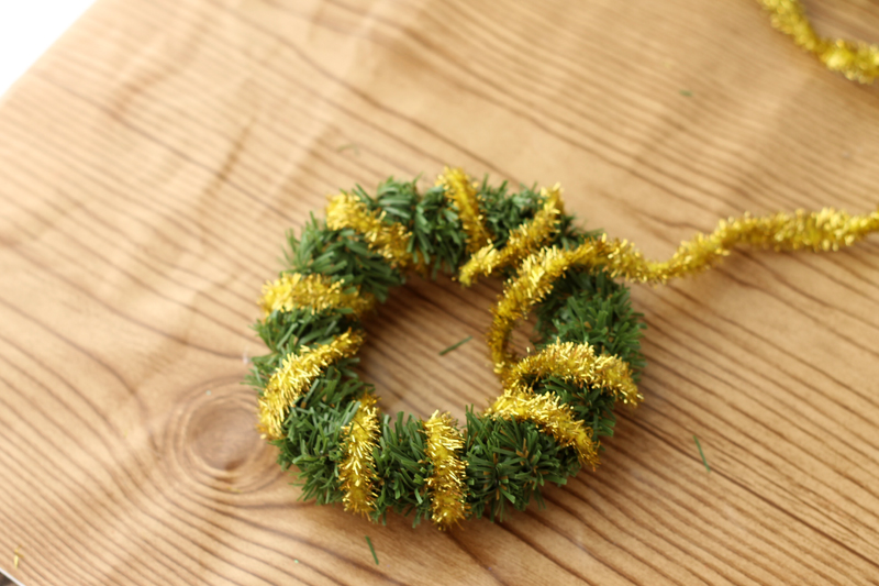 Green and Gold Wreath Ornament