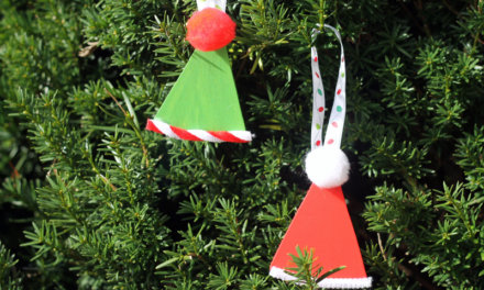 Old Fashioned Wood Santa Hat Ornaments