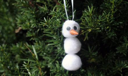 Classic Pom Pom Snowman Ornament