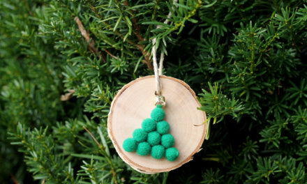 5-Minute Wood Slice Christmas Tree Ornaments